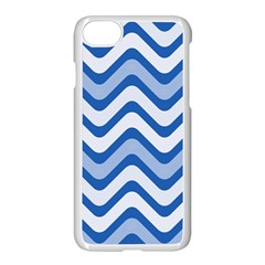 Waves Wavy Lines Pattern Design Apple Iphone 7 Seamless Case (white)