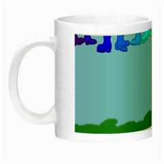 Welly Boot Rainbow Clothesline Night Luminous Mugs by Amaryn4rt