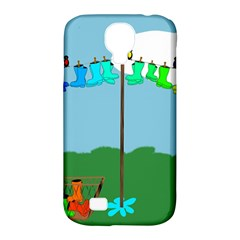 Welly Boot Rainbow Clothesline Samsung Galaxy S4 Classic Hardshell Case (pc+silicone) by Amaryn4rt
