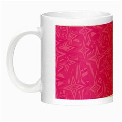 Geometric Pattern Wallpaper Pink Night Luminous Mugs by Amaryn4rt