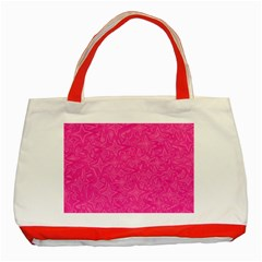 Geometric Pattern Wallpaper Pink Classic Tote Bag (red) by Amaryn4rt