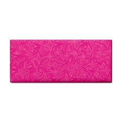 Geometric Pattern Wallpaper Pink Cosmetic Storage Cases by Amaryn4rt
