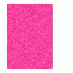 Geometric Pattern Wallpaper Pink Small Garden Flag (two Sides) by Amaryn4rt