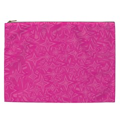 Geometric Pattern Wallpaper Pink Cosmetic Bag (xxl)  by Amaryn4rt