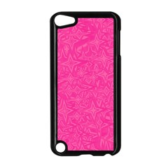 Geometric Pattern Wallpaper Pink Apple Ipod Touch 5 Case (black) by Amaryn4rt