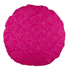 Geometric Pattern Wallpaper Pink Large 18  Premium Round Cushions by Amaryn4rt