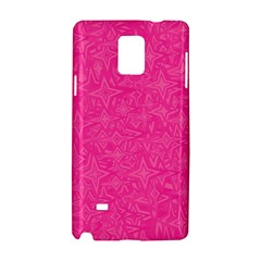 Geometric Pattern Wallpaper Pink Samsung Galaxy Note 4 Hardshell Case by Amaryn4rt