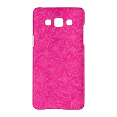 Geometric Pattern Wallpaper Pink Samsung Galaxy A5 Hardshell Case  by Amaryn4rt