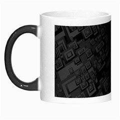 Black Rectangle Wallpaper Grey Morph Mugs by Amaryn4rt