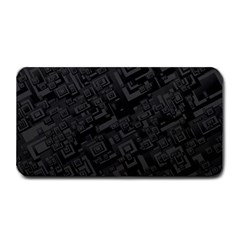 Black Rectangle Wallpaper Grey Medium Bar Mats by Amaryn4rt