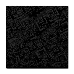 Black Rectangle Wallpaper Grey Face Towel by Amaryn4rt
