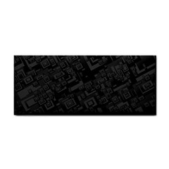 Black Rectangle Wallpaper Grey Cosmetic Storage Cases by Amaryn4rt