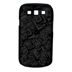 Black Rectangle Wallpaper Grey Samsung Galaxy S Iii Classic Hardshell Case (pc+silicone) by Amaryn4rt
