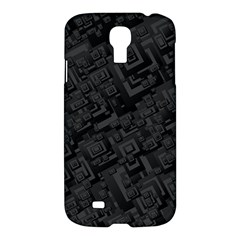Black Rectangle Wallpaper Grey Samsung Galaxy S4 I9500/i9505 Hardshell Case by Amaryn4rt