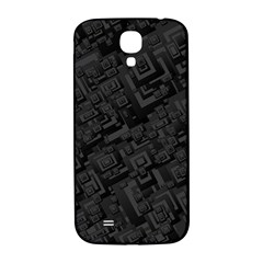 Black Rectangle Wallpaper Grey Samsung Galaxy S4 I9500/i9505  Hardshell Back Case by Amaryn4rt