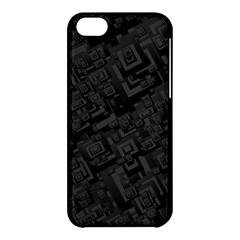 Black Rectangle Wallpaper Grey Apple Iphone 5c Hardshell Case by Amaryn4rt