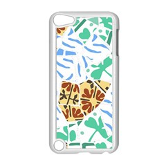 Broken Tile Texture Background Apple Ipod Touch 5 Case (white) by Amaryn4rt