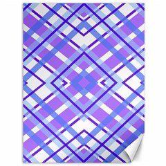 Geometric Plaid Pale Purple Blue Canvas 36  X 48   by Amaryn4rt