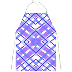 Geometric Plaid Pale Purple Blue Full Print Aprons by Amaryn4rt