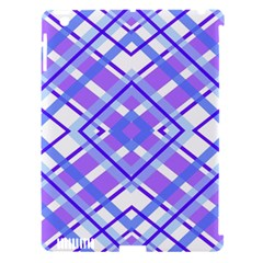 Geometric Plaid Pale Purple Blue Apple Ipad 3/4 Hardshell Case (compatible With Smart Cover) by Amaryn4rt