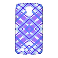 Geometric Plaid Pale Purple Blue Galaxy S4 Active by Amaryn4rt
