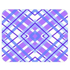 Geometric Plaid Pale Purple Blue Double Sided Flano Blanket (medium)  by Amaryn4rt