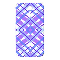 Geometric Plaid Pale Purple Blue Samsung Galaxy Mega I9200 Hardshell Back Case by Amaryn4rt