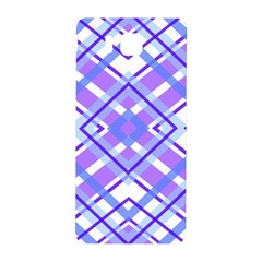 Geometric Plaid Pale Purple Blue Samsung Galaxy Alpha Hardshell Back Case by Amaryn4rt