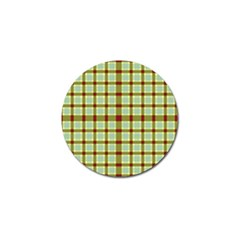 Geometric Tartan Pattern Square Golf Ball Marker by Amaryn4rt