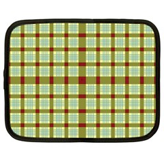 Geometric Tartan Pattern Square Netbook Case (large) by Amaryn4rt