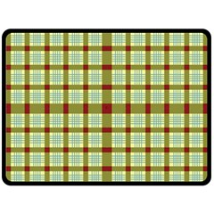 Geometric Tartan Pattern Square Fleece Blanket (large)  by Amaryn4rt
