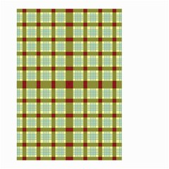 Geometric Tartan Pattern Square Small Garden Flag (two Sides) by Amaryn4rt
