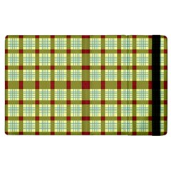 Geometric Tartan Pattern Square Apple Ipad 2 Flip Case by Amaryn4rt