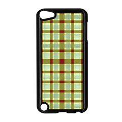 Geometric Tartan Pattern Square Apple Ipod Touch 5 Case (black) by Amaryn4rt