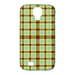 Geometric Tartan Pattern Square Samsung Galaxy S4 Classic Hardshell Case (pc+silicone) by Amaryn4rt