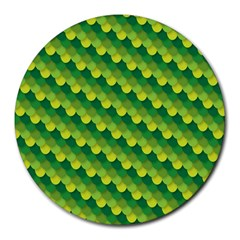 Dragon Scale Scales Pattern Round Mousepads by Amaryn4rt