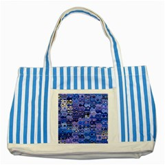 Background Texture Pattern Colorful Striped Blue Tote Bag by Amaryn4rt