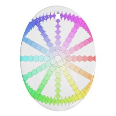 Polygon Evolution Wheel Geometry Ornament (oval)