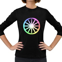 Polygon Evolution Wheel Geometry Women s Long Sleeve Dark T-shirts by Amaryn4rt