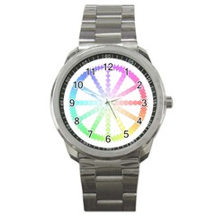 Polygon Evolution Wheel Geometry Sport Metal Watch by Amaryn4rt