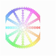 Polygon Evolution Wheel Geometry Large Garden Flag (two Sides) by Amaryn4rt
