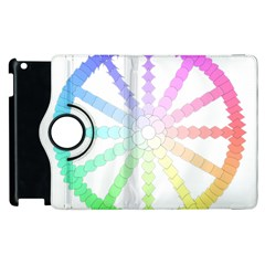 Polygon Evolution Wheel Geometry Apple Ipad 3/4 Flip 360 Case by Amaryn4rt