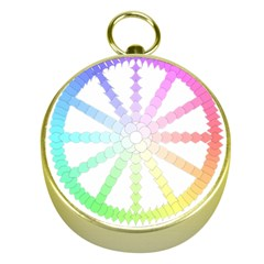 Polygon Evolution Wheel Geometry Gold Compasses