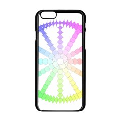 Polygon Evolution Wheel Geometry Apple Iphone 6/6s Black Enamel Case by Amaryn4rt