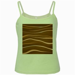 Lines Swinging Texture Background Green Spaghetti Tank by Amaryn4rt