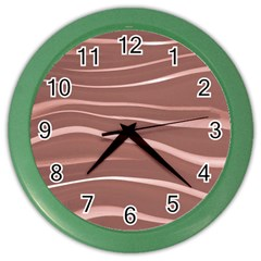 Lines Swinging Texture Background Color Wall Clocks by Amaryn4rt