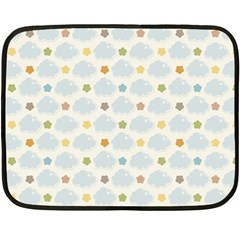 Baby Cloudy Star Cloud Rainbow Blue Sky Fleece Blanket (mini) by Alisyart