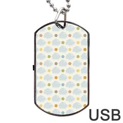 Baby Cloudy Star Cloud Rainbow Blue Sky Dog Tag Usb Flash (one Side) by Alisyart