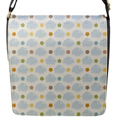 Baby Cloudy Star Cloud Rainbow Blue Sky Flap Messenger Bag (s) by Alisyart