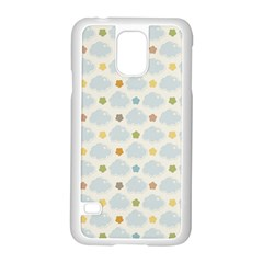 Baby Cloudy Star Cloud Rainbow Blue Sky Samsung Galaxy S5 Case (white)